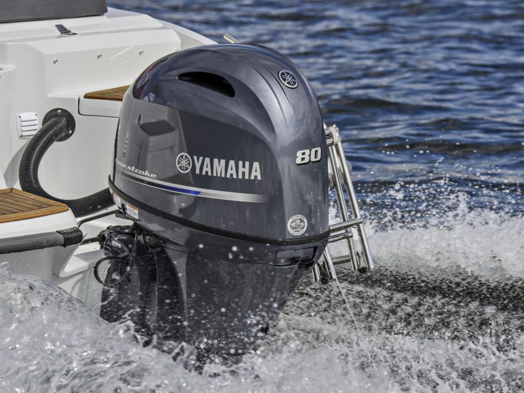 Yamaha aloitti perämoottoriensa laihduttamisen F100-moottorista, nyt laihdutuskuurin on läpikäynyt F80. Pienentynyt on painon ohella koko.